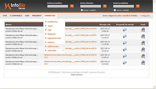 kontrola wersji witryny internetowej - system CMS z kontrolą wersji