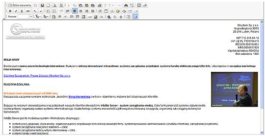 graficzny edytor stron internetowych (www)