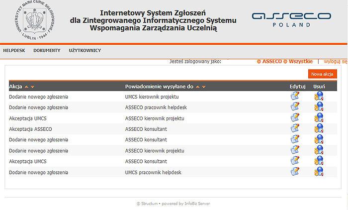 internetowy system CRM helpdesk