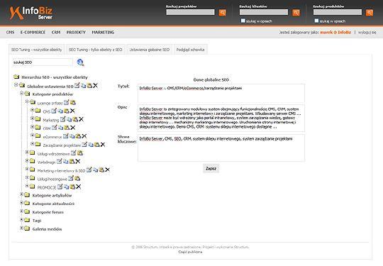 SEO TUNING - optymalizacja strony internetowej