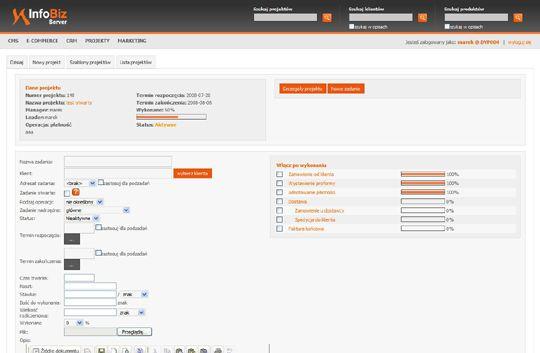 system zarządzania projektami